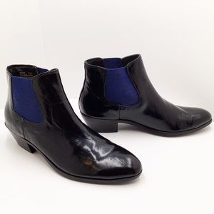 {Modern Vice} Ringo Patent Leather Ankle Booties